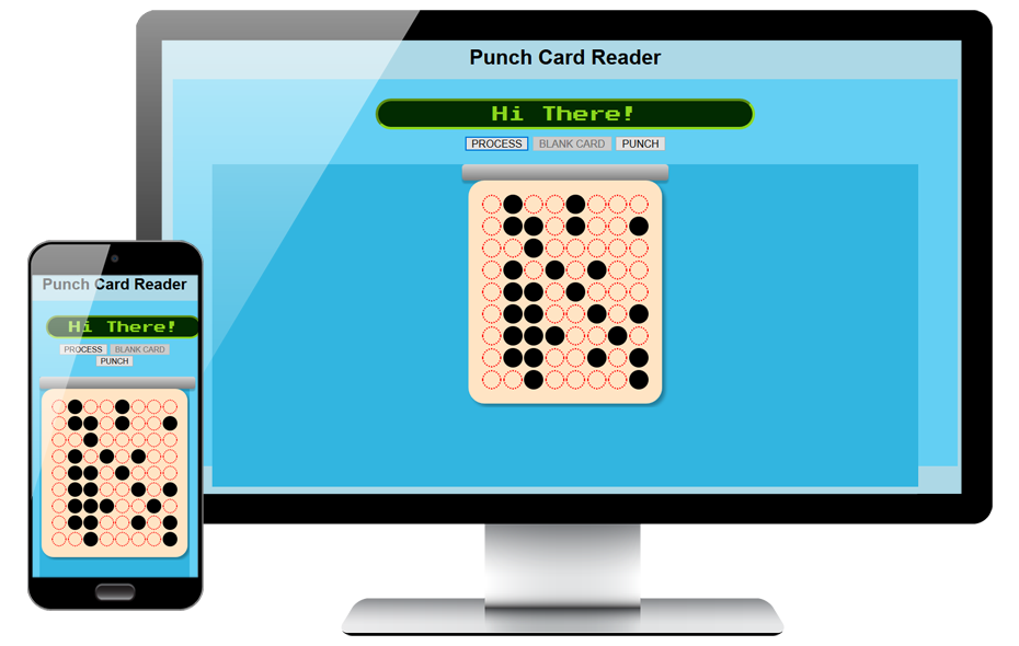jQuery Punch Card Website